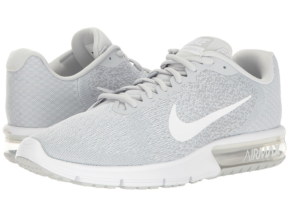 Nike - Air Max Sequent 2 (Pure Platinum/White/Wolf Grey) Mens Running Shoes
