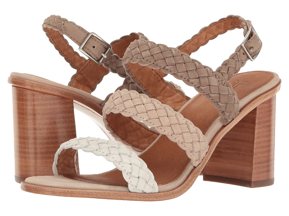 Frye Amy Braid Sandal (White Multi Suede) Women