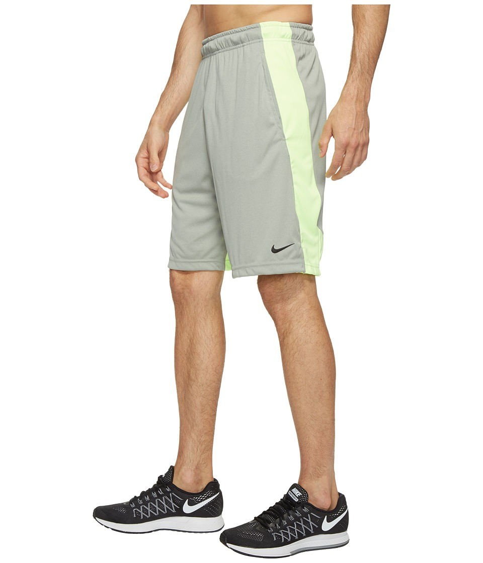 Nike Dry 9 Training Short (Grey Heather/Ghost Green/Black) Men