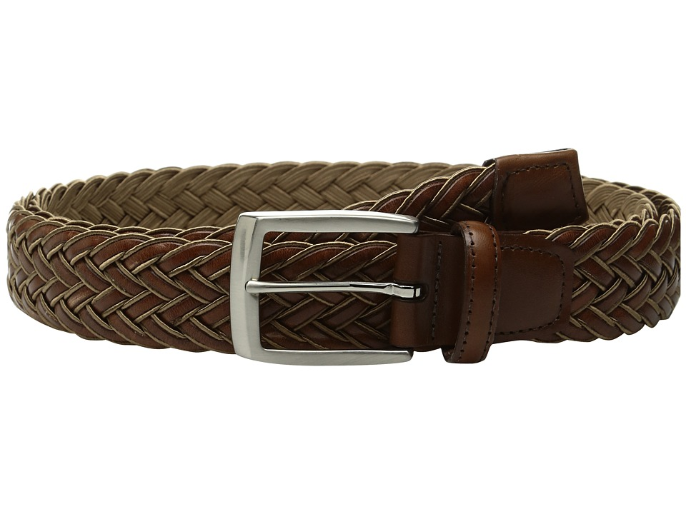 Torino Leather Co. 35mm Italian Braided Rayon with Calf Inlay (Tan/Cognac) Men