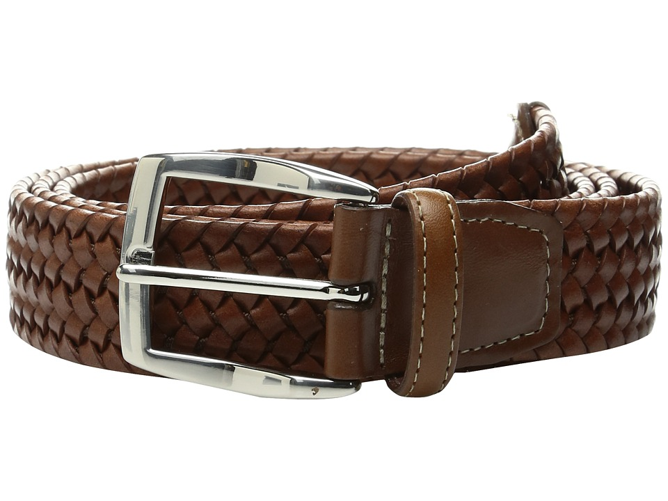 Torino Leather Co. 35mm Italian Woven Stretch Leather (Cognac) Men