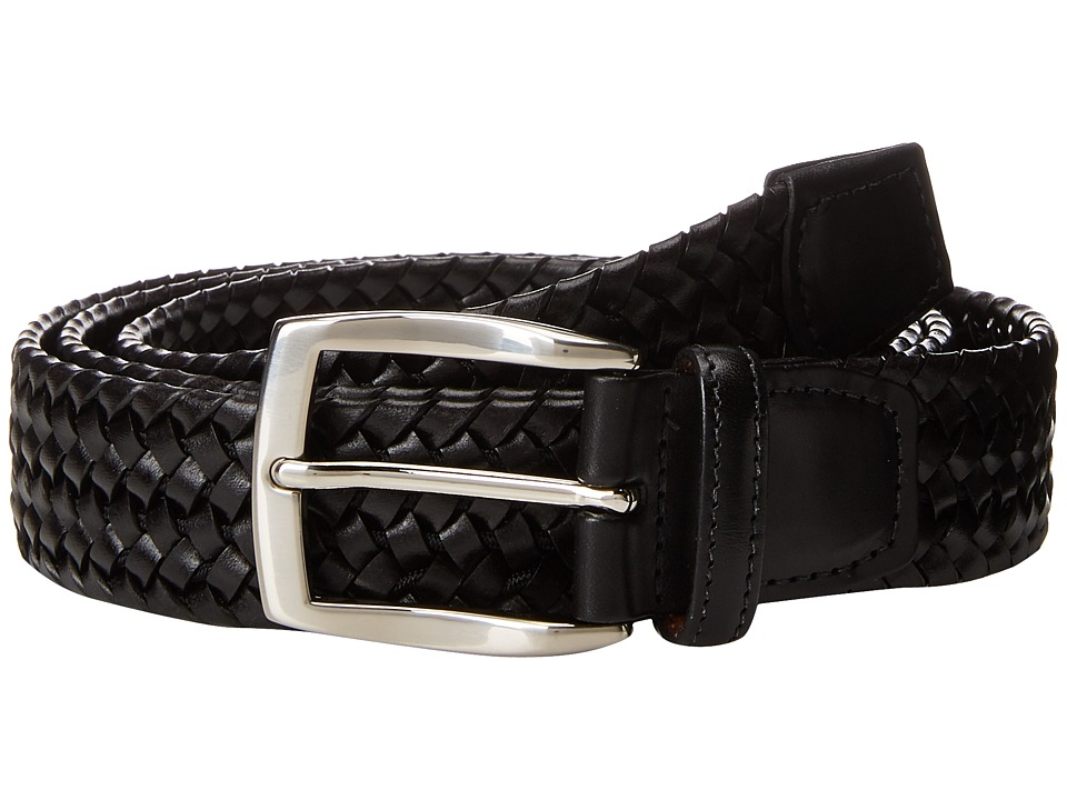 Torino Leather Co. 35mm Italian Woven Stretch Leather (Black) Men