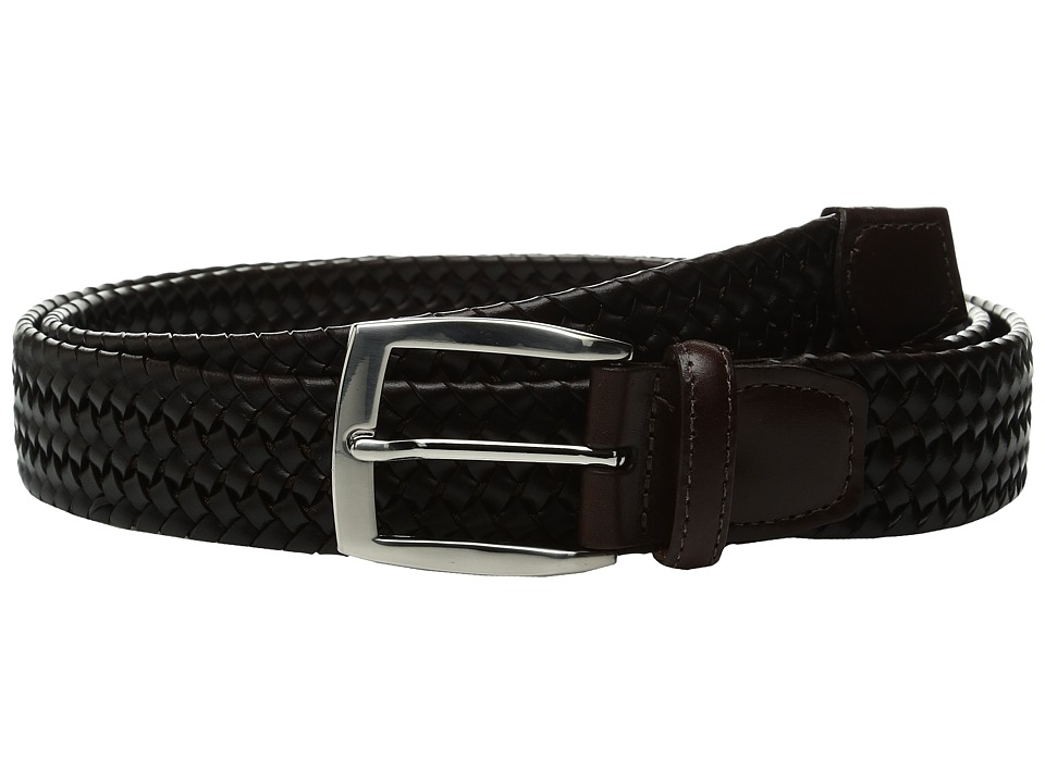 Torino Leather Co. 35mm Italian Woven Stretch Leather (Brown) Men