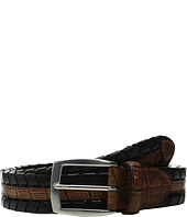 Torino Leather Co. - 35mm Laced Harness Leather with Gator Embossed Inset