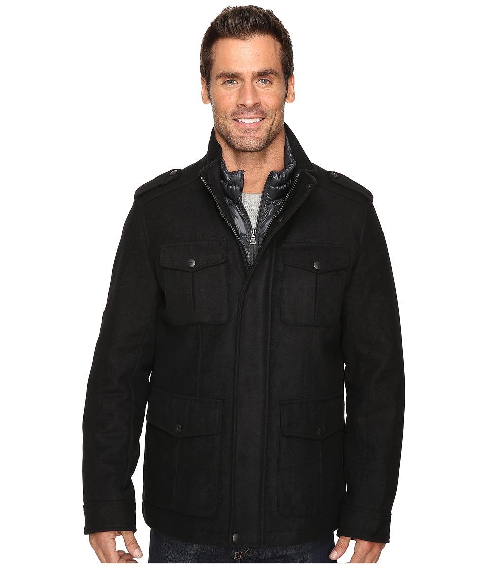 Dockers Four-Pocket Military w/ Nylon Bib (Black) Men's Coat