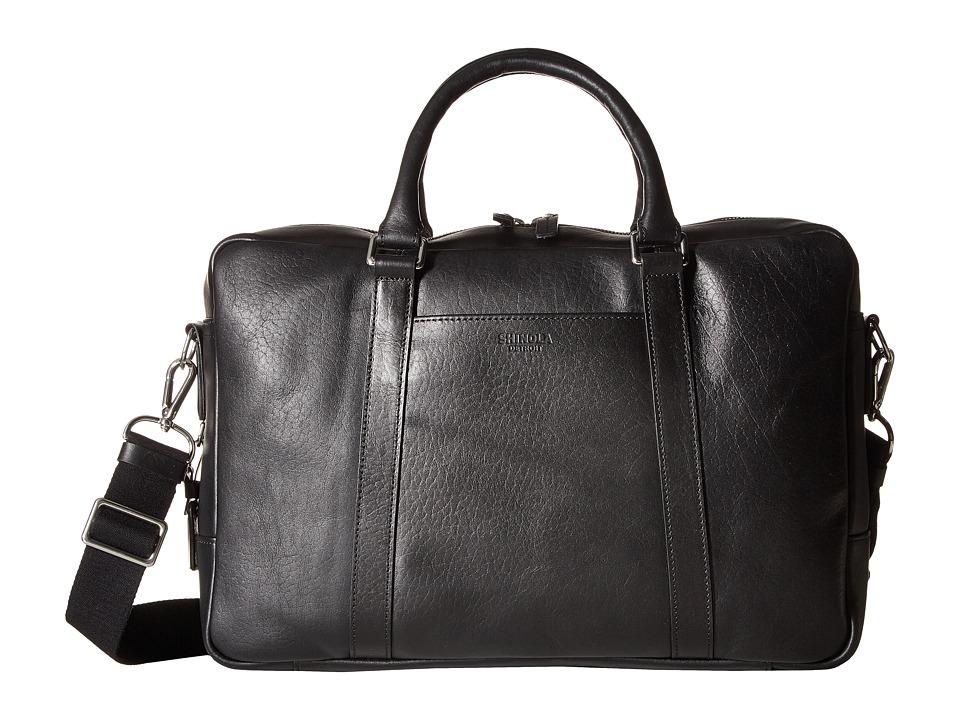 Shinola Detroit - Slim Brief (Black) Briefcase Bags