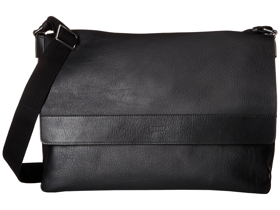Shinola Detroit East/West Messenger (Black) Messenger Bags