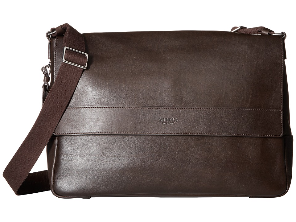 Shinola Detroit East/West Messenger (Deep Brown) Messenger Bags
