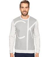 Calvin Klein - Long Sleeve Color Blocked Printed Crew Neck Shirt