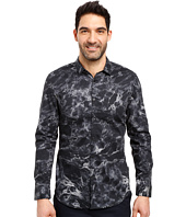 Calvin Klein - Long Sleeve Marble Print Button Down Shirt