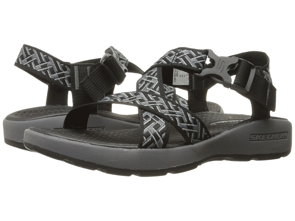 SKECHERS Outdoor Adjustable Sandal (Black/Charcoal) Men