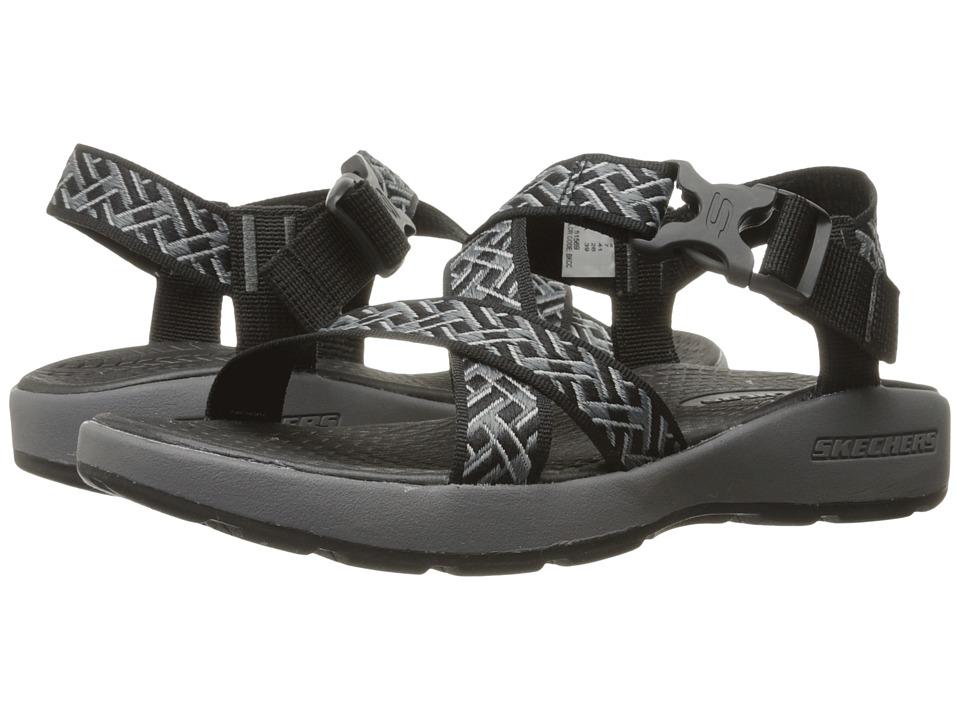 SKECHERS Outdoor Adjustable Sandal (Black/Charcoal) Men