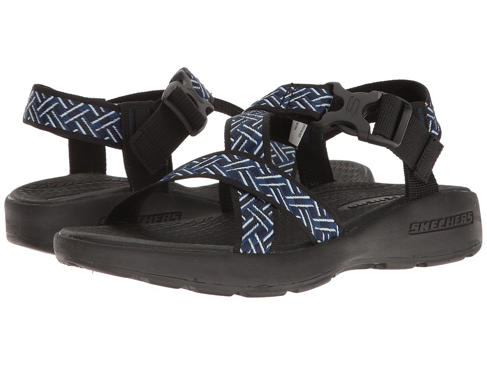 SKECHERS Outdoor Adjustable Sandal (Navy/Black) Men