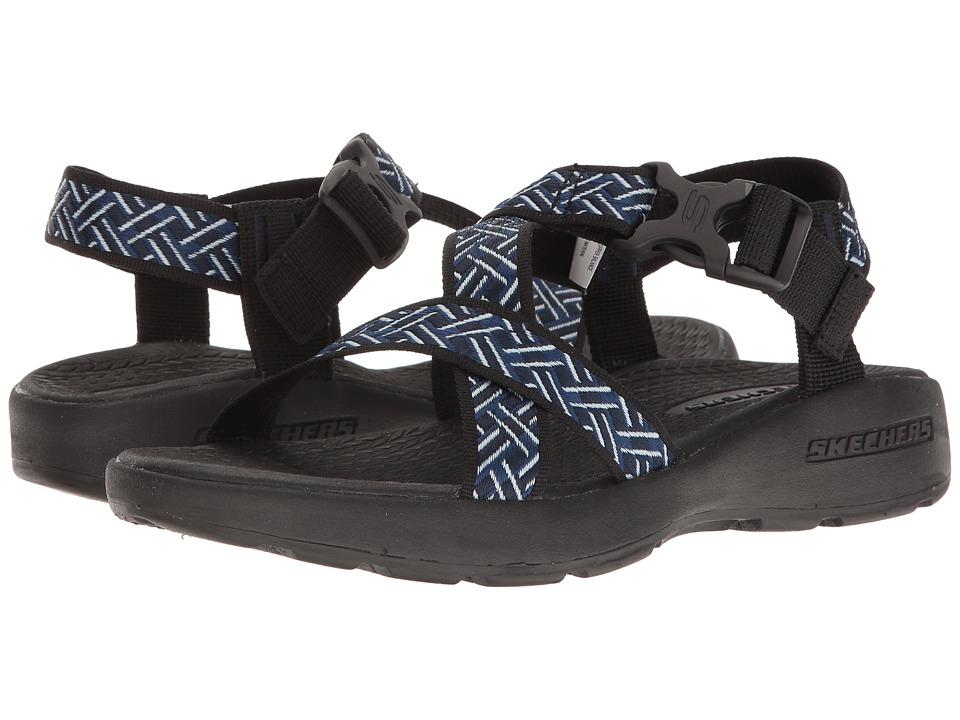 SKECHERS Outdoor Adjustable Sandal (Navy/Black) Men