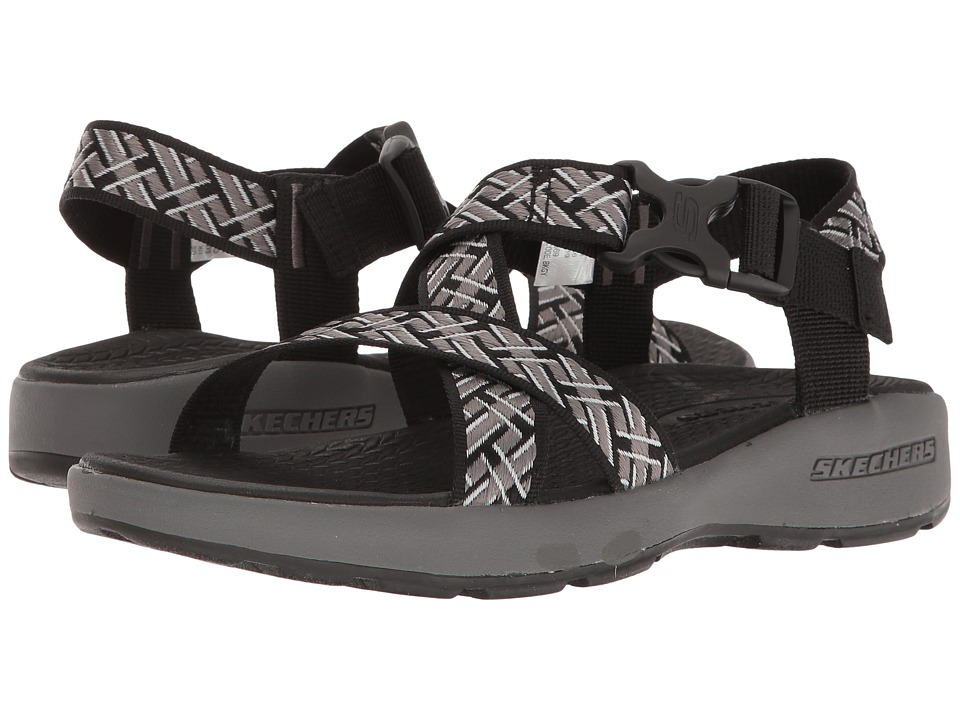 SKECHERS Outdoor Adjustable Sandal (Black/Gray) Men