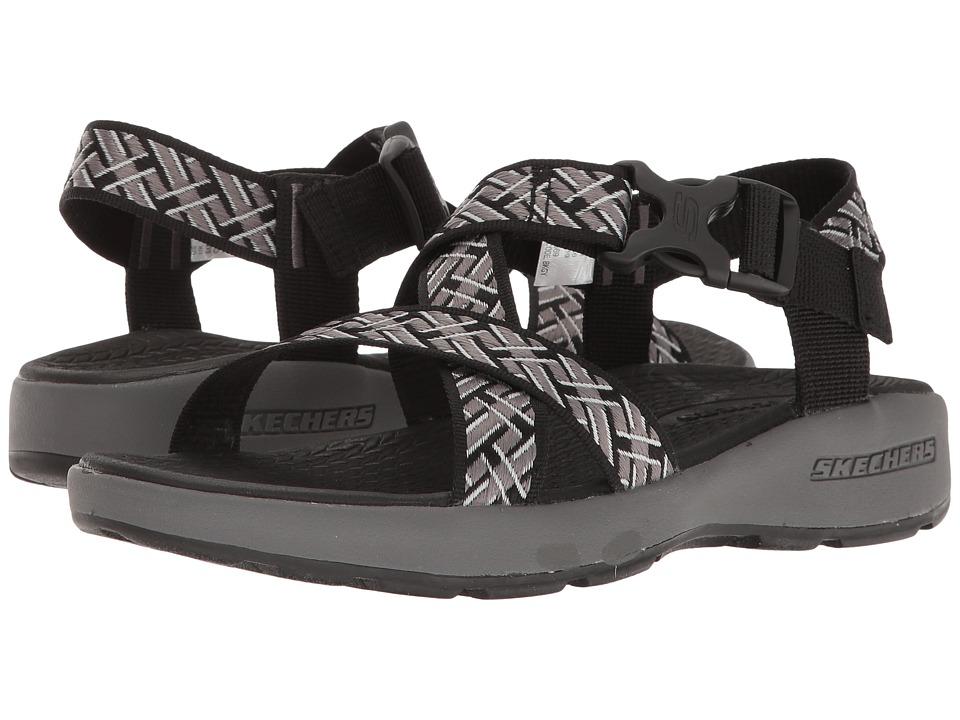 SKECHERS Outdoor Adjustable Sandal (Black/Gray) Men
