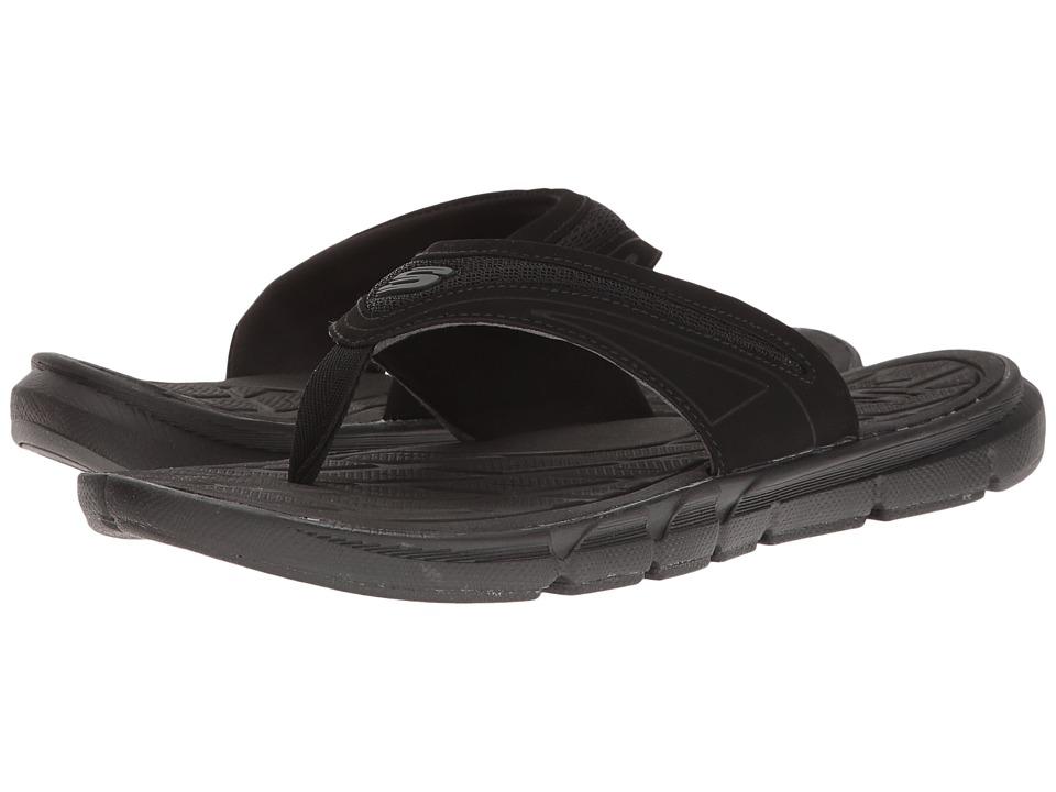 SKECHERS Thong Sandal w/ Mesh (Black) Men
