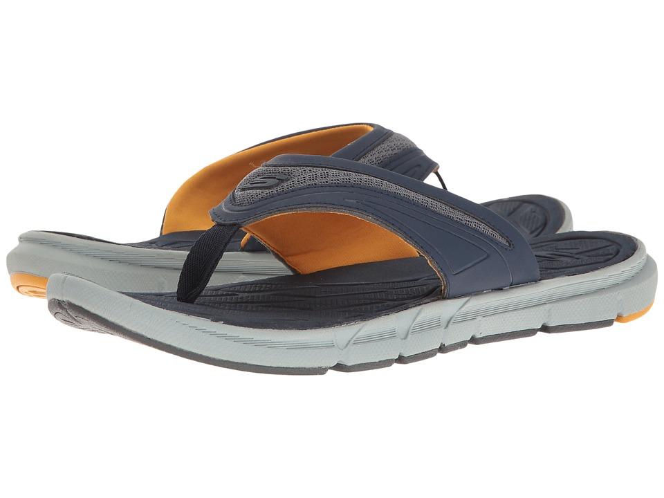 SKECHERS Thong Sandal w/ Mesh (Navy/Orange) Men