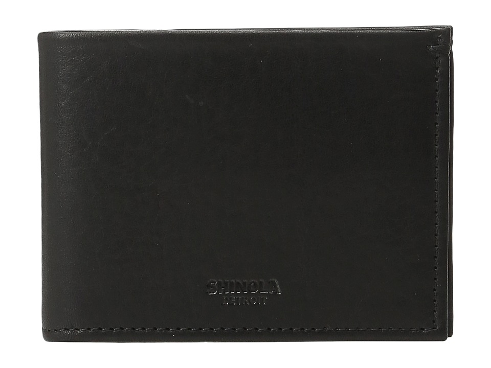 Shinola Detroit - Slim Bifold (Black) Wallet Handbags
