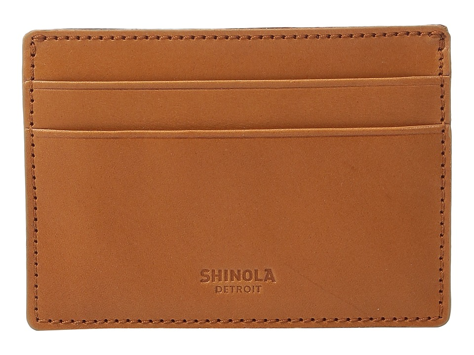 Shinola Detroit - Six-Pocket Card Case (Tan) Wallet Handbags