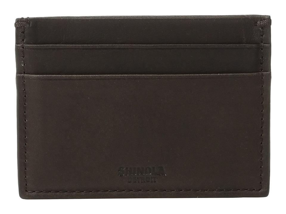Shinola Detroit - Five-Pocket Card Case (Deep Brown) Wallet Handbags