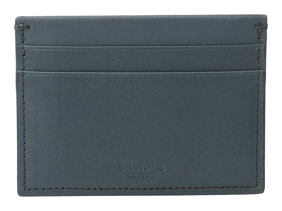 Shinola Detroit - Five-Pocket Card Case (Slate Blue) Wallet Handbags