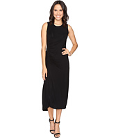 HEATHER - Asymmetrical Shirred Midi Tank Dress
