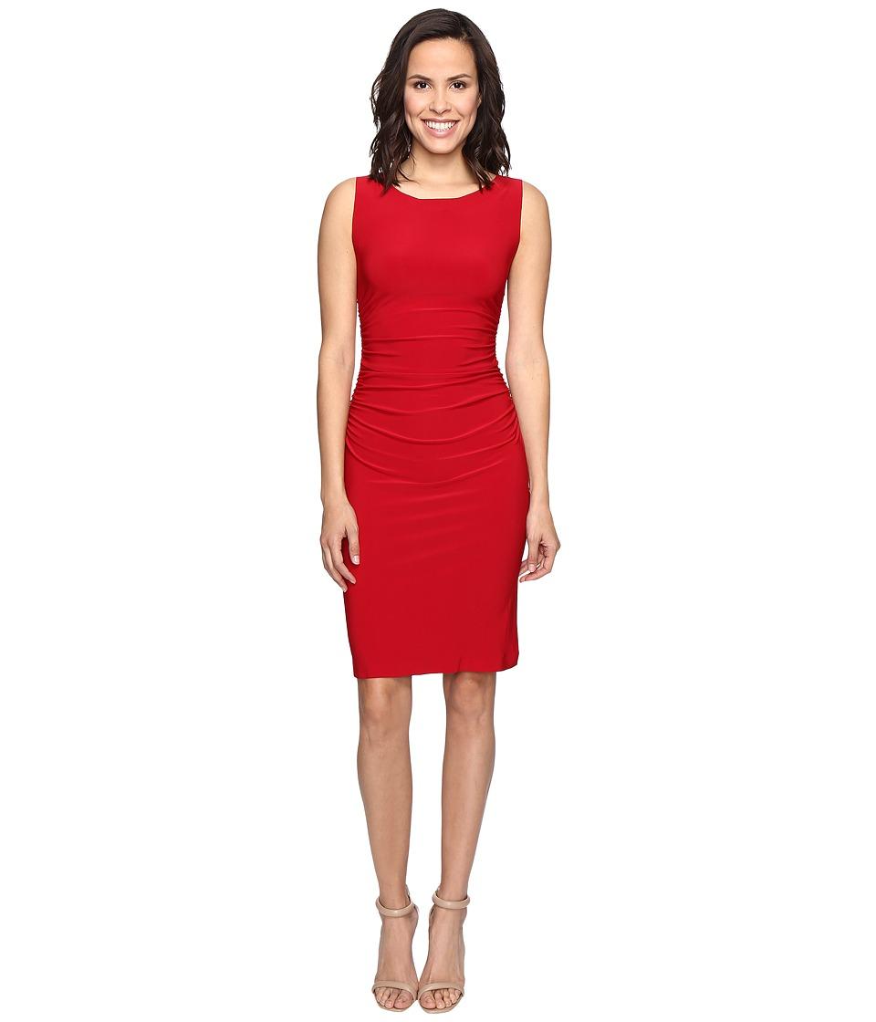 KAMALIKULTURE by Norma Kamali Sleeveless Shirred Waist Dress (Red) Women