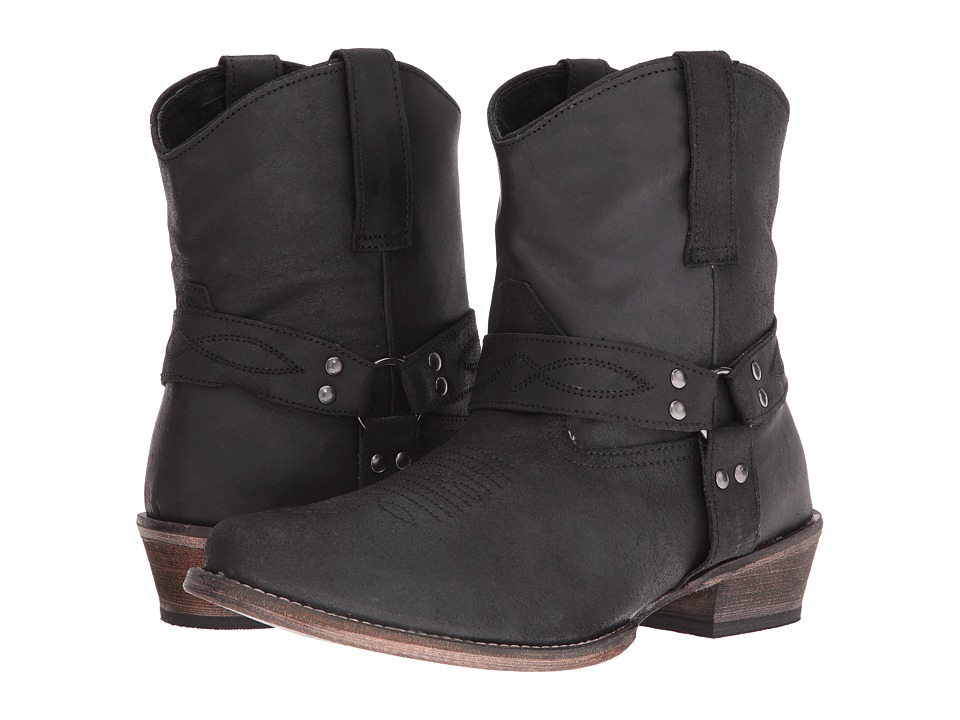 Roper Harness (Black Split Crazy) Cowboy Boots