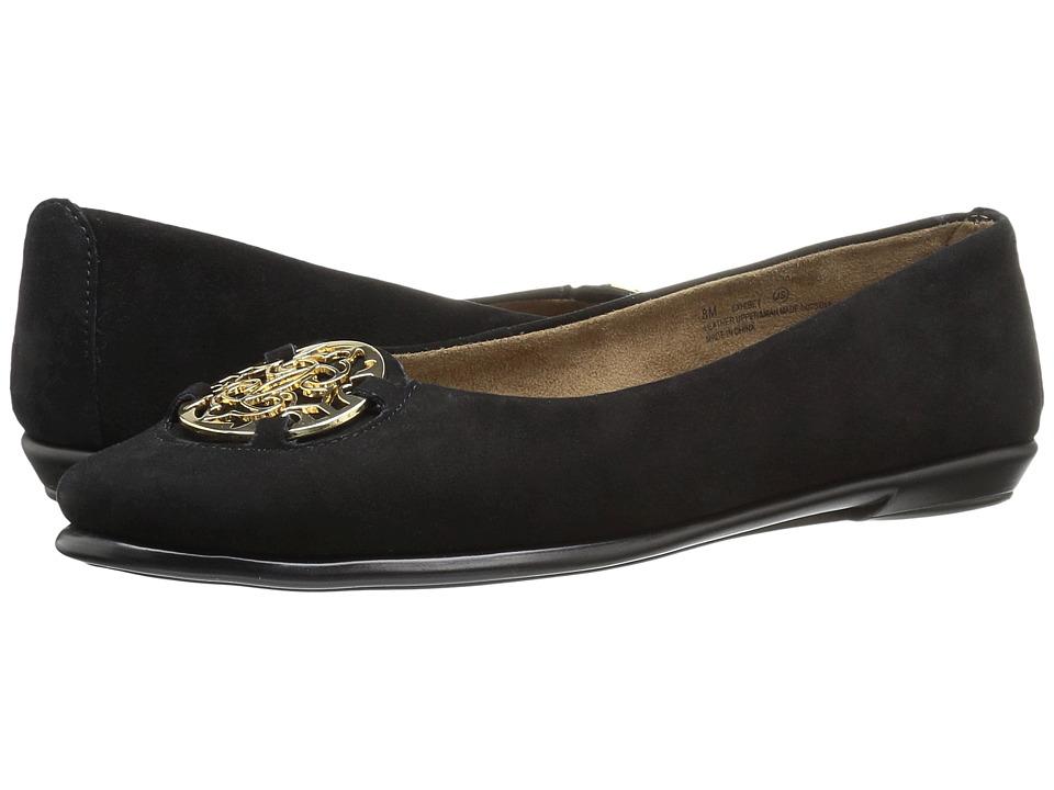 Retro Vintage Flats and Low Heel Shoes Aerosoles - Exhibet Black Suede Womens  Shoes $70.99 AT vintagedancer.com
