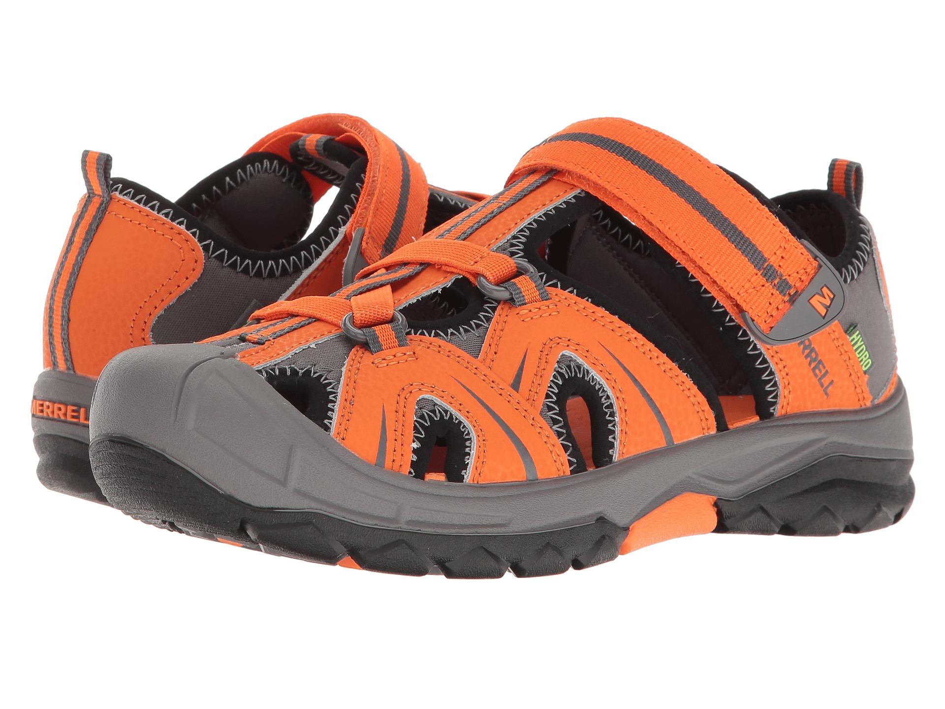 merrell hydro big kid orange grey zappos free