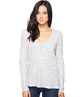 Michael Stars - Eyelash Jersey Long Sleeve V-Neck Top