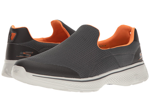 SKECHERS Performance Go Walk 4 - Charcoal/Orange
