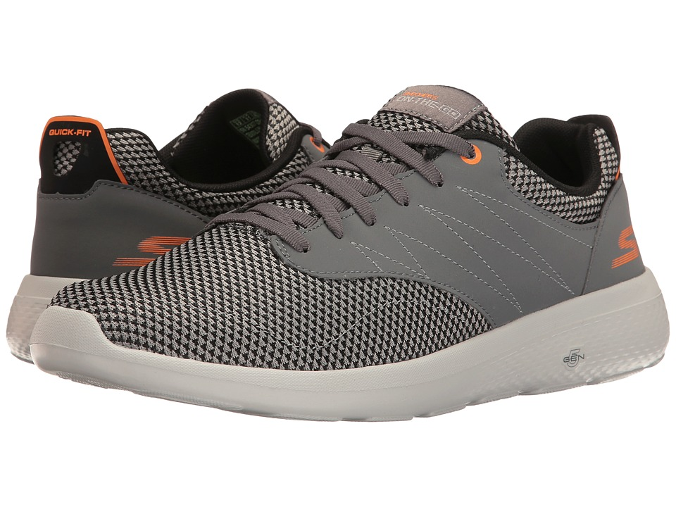 SKECHERS Performance - On-the-Go City 2 (Charcoal/Orange) Mens Shoes
