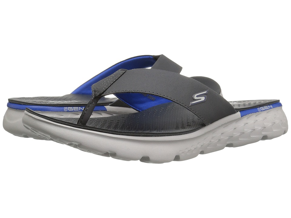 SKECHERS Performance On-The-Go 400 (Charcoal/Blue) Men