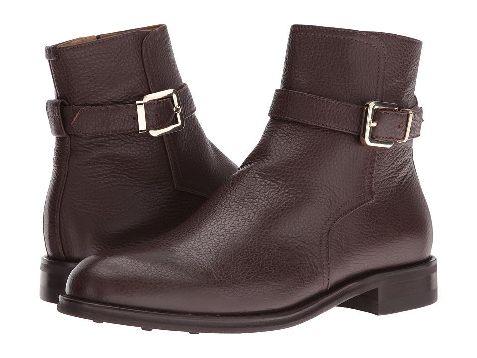 Del Toro Leather Zip Chelsea Boot (Brown) Men