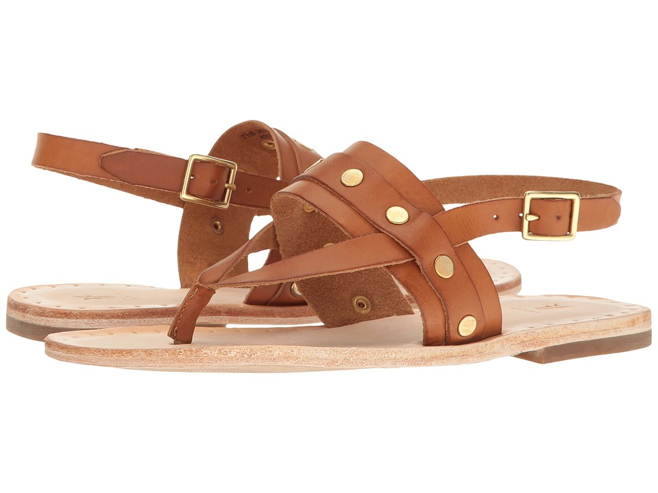 Frye - Avery Stud Thong (Tan Smooth Full Grain) Women's Sandals