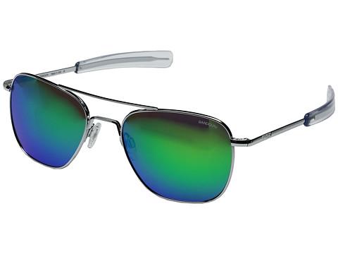 Randolph Aviator 55mm - Bright Chrome/Glass Green Flash Mirror