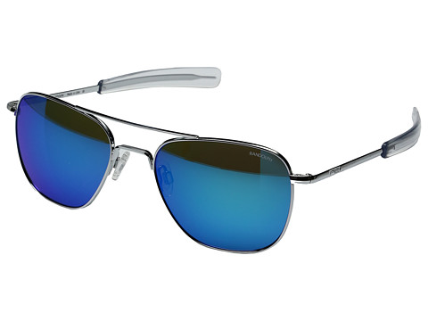 Randolph Aviator 55mm - Bright Chrome/Glass Blue Flash Mirror