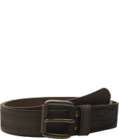 John Varvatos - 40mm Waxed Suede Belt with Harness Buckle