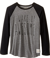 The Original Retro Brand Kids - I Wake Up Awesome Long Sleeve Raglan (Big Kids)