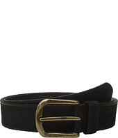 John Varvatos - 40mm Textured Suede Belt with Stitch