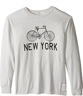 The Original Retro Brand Kids - New York Bike Slub Long Sleeve Tee (Big Kids)