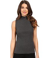 Vince Camuto - Sleeveless Mock Neck Ribbed Sweater