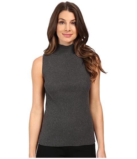 Vince Camuto Sleeveless Mock Neck Ribbed Sweater
