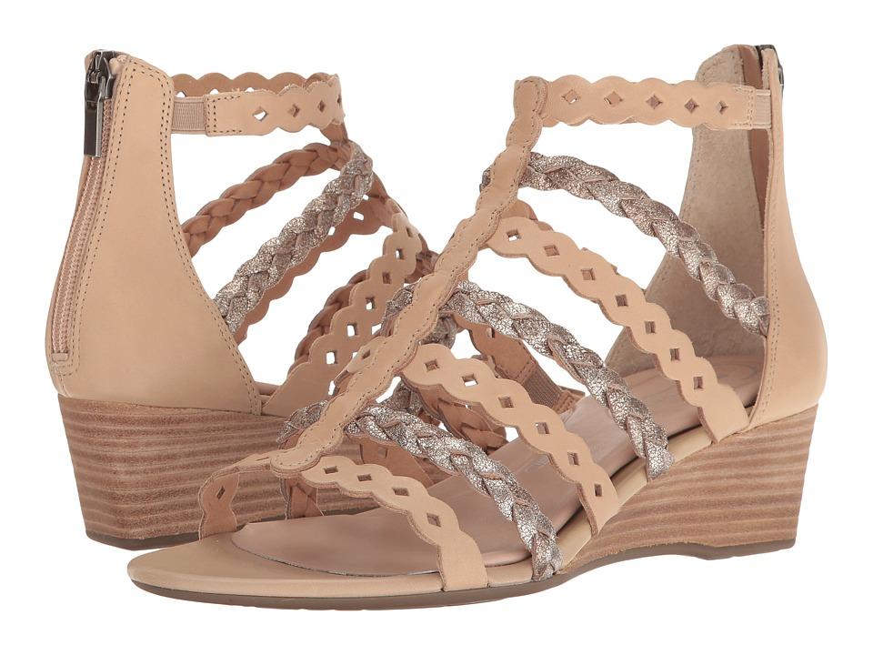 Rockport Total Motion 55mm Wedge Gladiator Sandal (Warm Taupe) Women