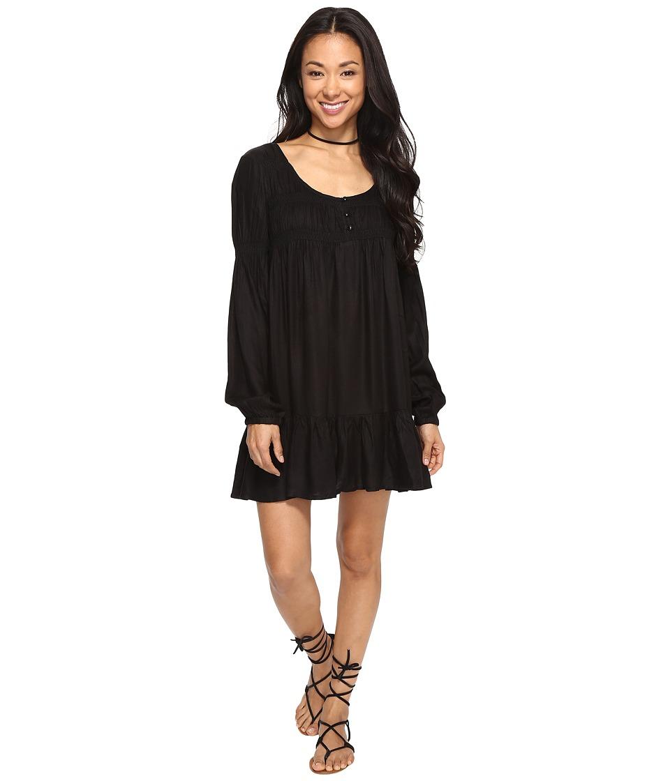 Volcom Ethos Long Sleeve Dress (Black) Women