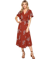 Brigitte Bailey - Audrina Wrap Dress with Embroidery