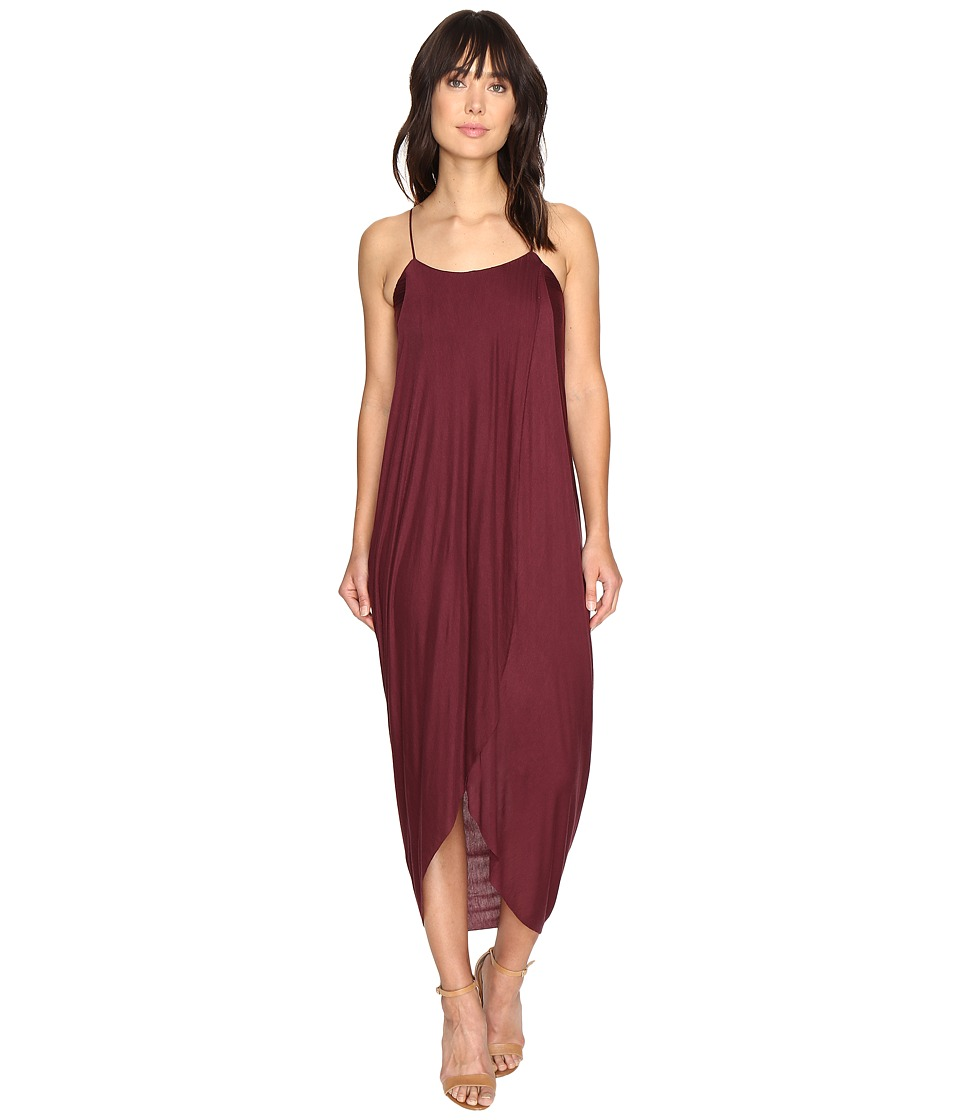 Culture Phit Daphne Spaghetti Strap Maxi Dress (Burgundy) Women