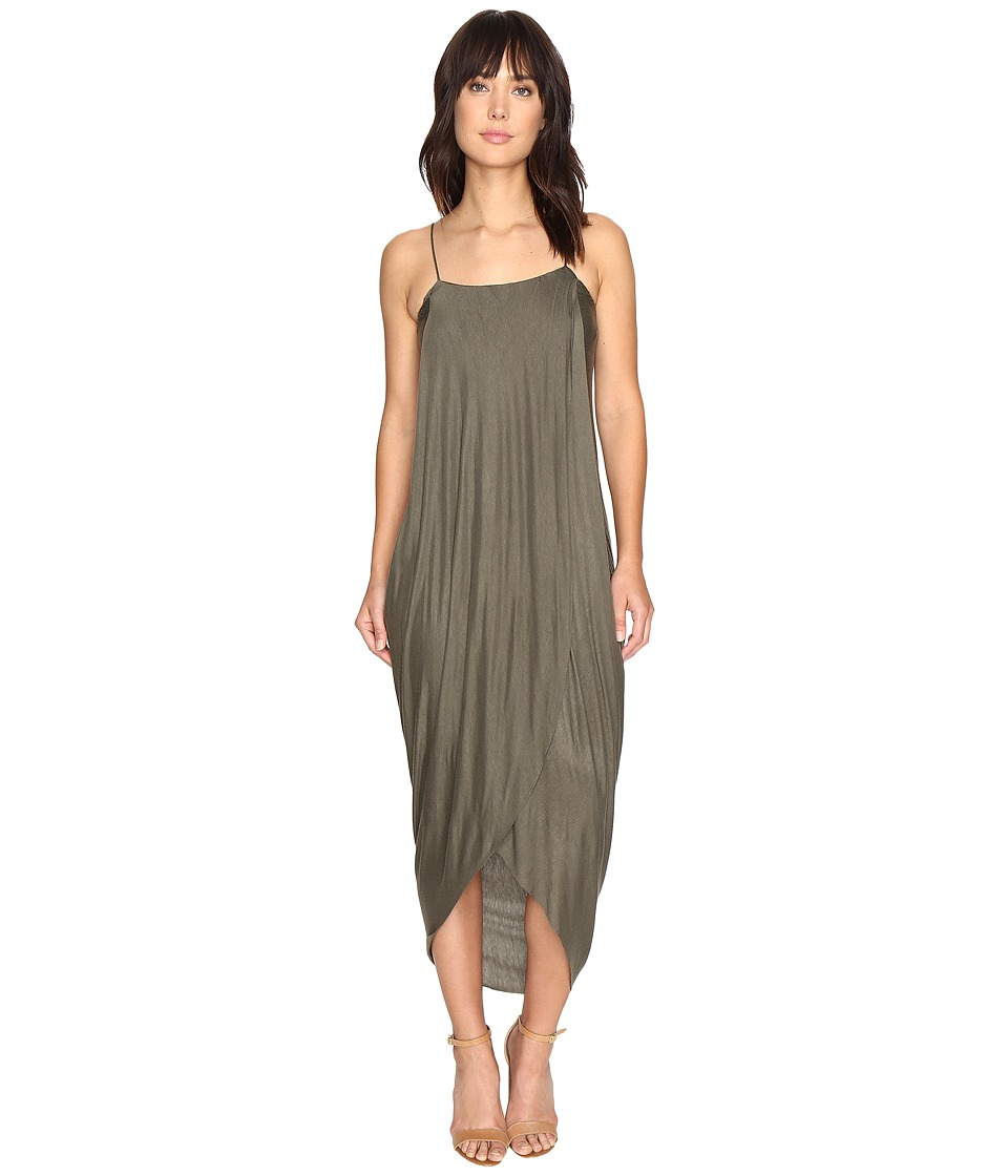 Culture Phit Daphne Spaghetti Strap Maxi Dress (Olive) Women